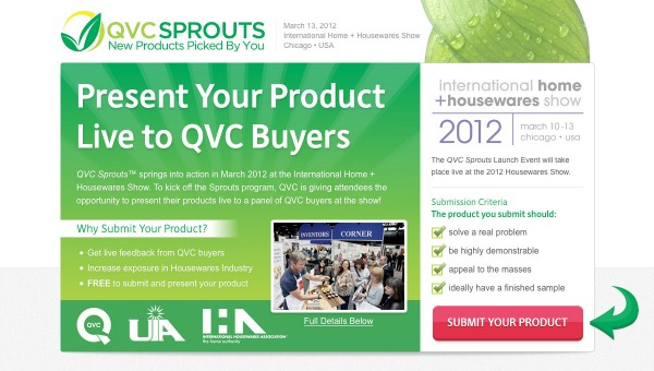 QVC Sprouts Launch Event Website